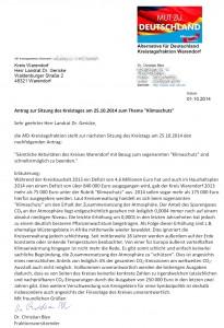 Antrag Kreistagsfraktion Klimaschutz
