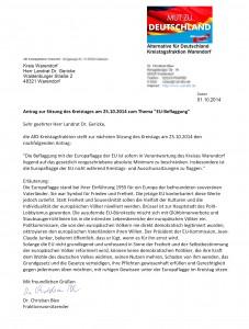 Antrag Kreistagsfraktion WAF EU-Beflaggung