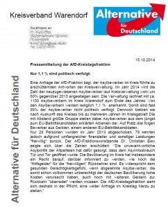 Pressemitteilung 2014-10-15 Asylbewerber