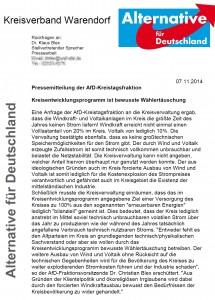 Pressemitteilung 2014-11-07 erneuerbare Energien Kreisentwicklungsprogramm