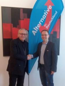 Martin Renner und Dr Christian Blex beim Vortrag in Ahlen des KV Warendorf