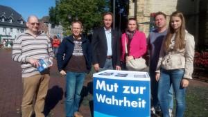 AfD-Infostand in Oelde des KV Warendorf