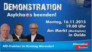 AfD Demonstration in Oelde 2015-11-16